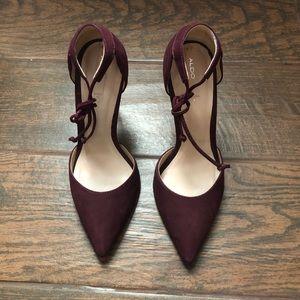 ALDO eggplant purple heels!! Size 6